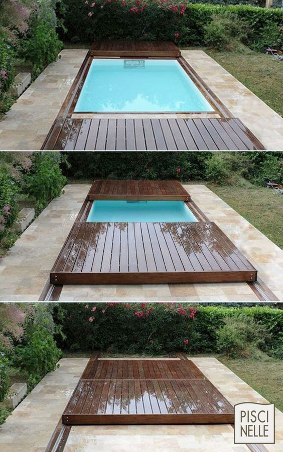 Inspiration 13 Petites Piscines Utiles Pour Le Jardin De Votre Famille If You Have A Small Yard In 2020 Small Backyard Pools Backyard Pool Landscaping Backyard