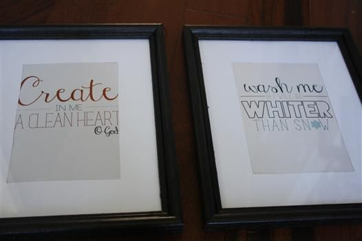 Framed bible verse art for the laundry room