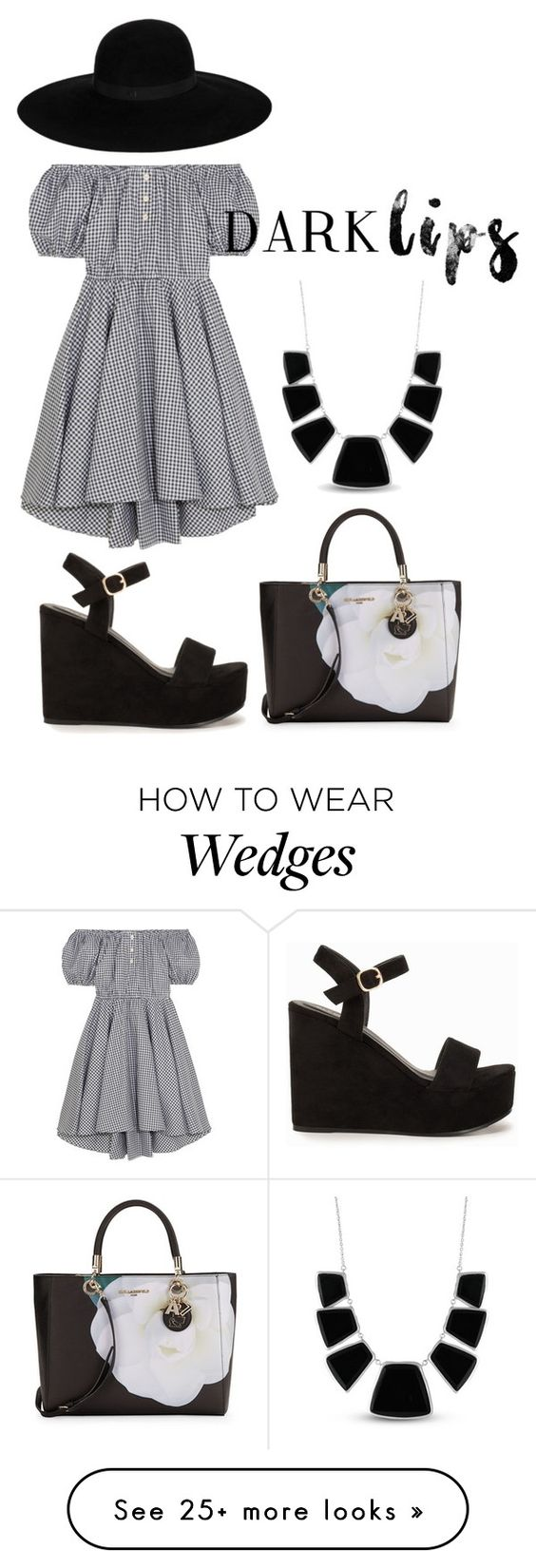 """""""fgfhfc by nana"""" by zozanazozane on Polyvore featuring Caroline Constas, Nly Shoes, Karl Lagerfeld, Maison Michel and Karen Kane"""