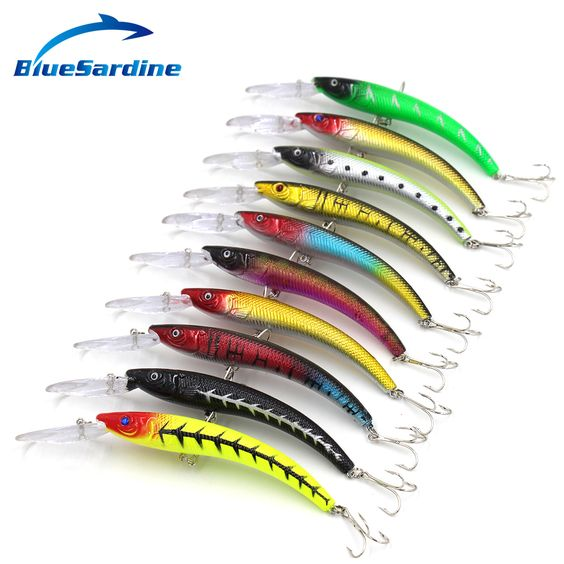 10pcs 16.5g 15cm minnow fishing lures hard bait crankbait fishing, Hard Baits