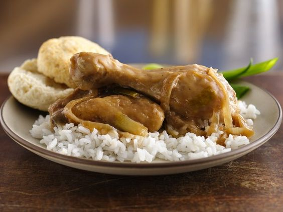 Smothered Chicken and Gravy | Here's a real southern specialty. Just add some warm-from-the-oven biscuits and smother your family with a large platter of seconds. | From: bettycrocker.com