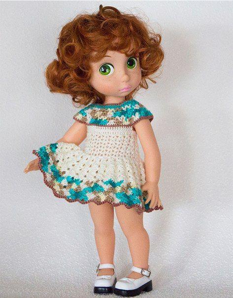 Doll Clothes / Disney Animator Doll / Crochet: