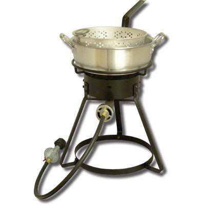 King Kooker Bolt Together Outdoor Cooker with 7 Quart Aluminum Deep Fryer