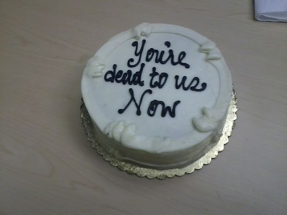 """A pinner said: """"My colleagues' farewell cake had this heartfelt message for me"""""""