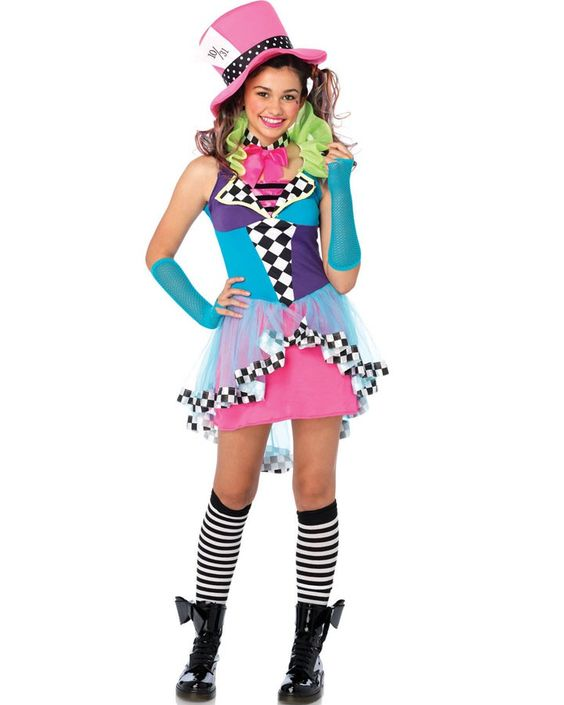 Mayhem Mad Hatter Teen Girls Costume