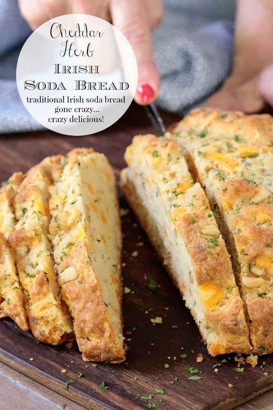 Herbed Cheddar Savory Irish Soda Bread