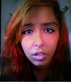 I look like a Derp....but i would look so cool with blue eyes! xD