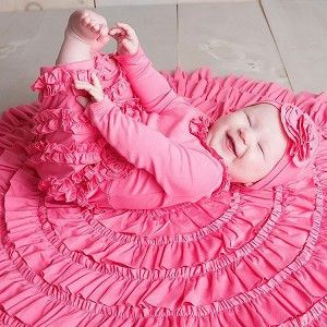 Lemon Loves Layette Pink Lemonade Peony Romper