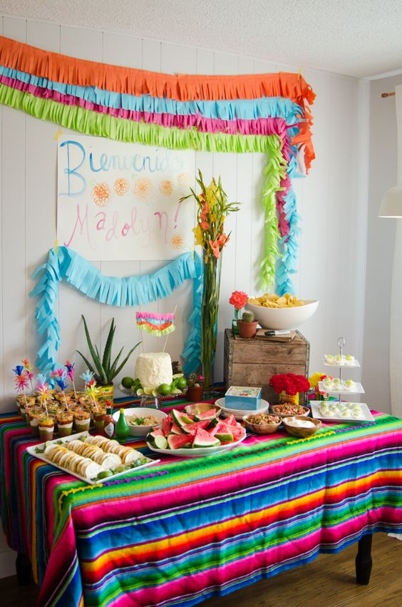 A Fiesta Baby Shower! - lemonthistle.com ~ I'm thinking this could be done for ANY NUMBER of other occasions, i just love the ideas here!