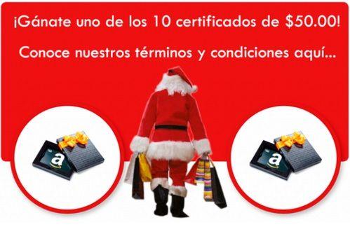 ¡ALERTA Y GANA!  Uno de los 10 certificados por $50.00 en Amazon.com  Haz click aquí: http://www.transexpress.com.sv/navidad2013