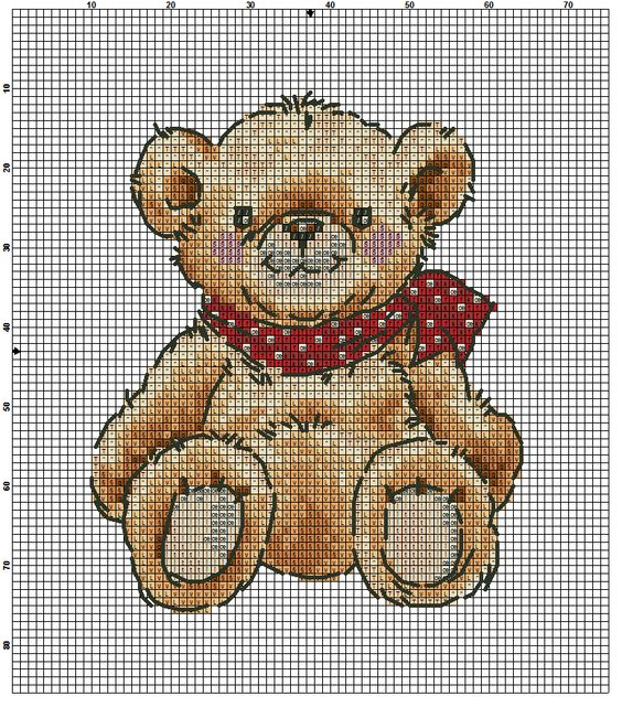 teddy mit schal