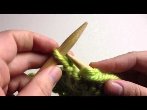 Knit Stitch Slow : How to Knit - Purl Stitch Beginner (with closed captions): Needle knitting pl...