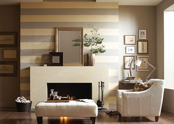 decorating with a pastel or neutral color scheme fireplaces nursery stripes and fireplace wall. Black Bedroom Furniture Sets. Home Design Ideas
