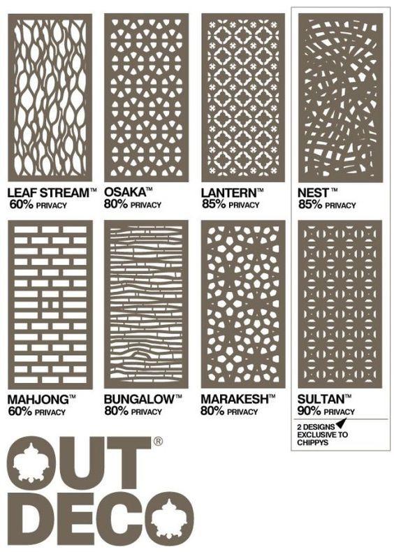 outdeco panels - Timber Screening, Merbau Screening, Privacy Screens, D.I.Y Screens:
