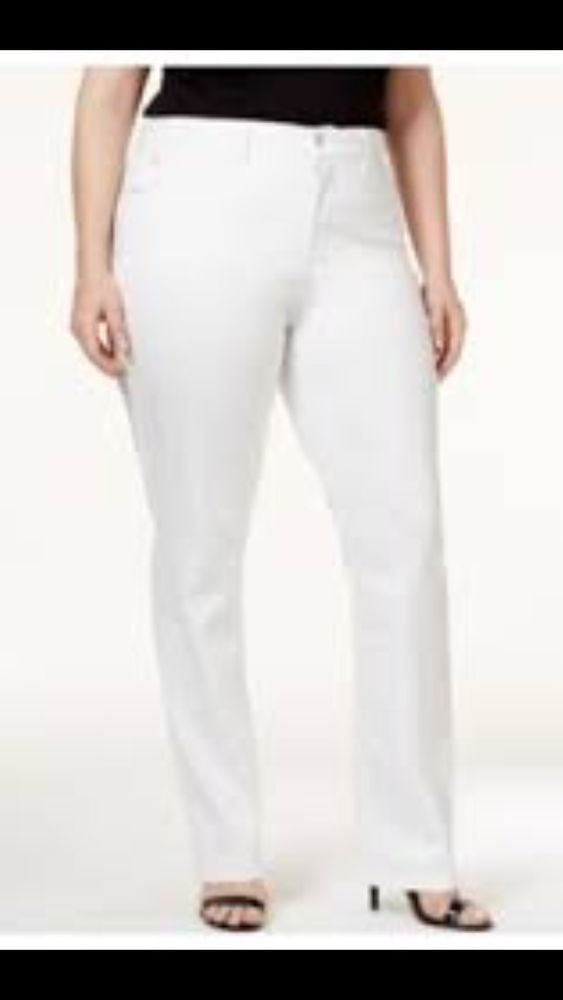 Details about Croft & Barrow Classic Fit Women's White Stretch ...