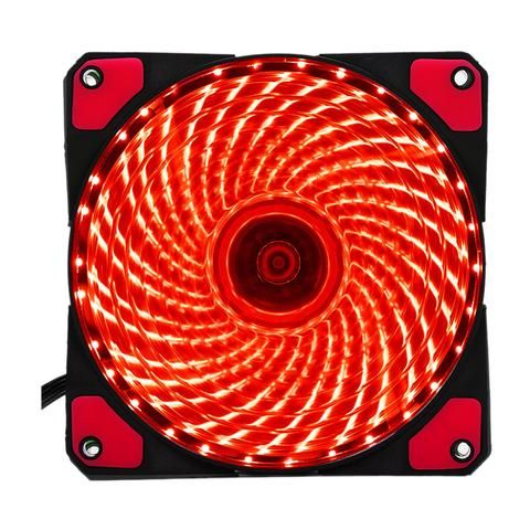 120mm Pc Computer 16db Ultra Silent 33 Leds Case Fan Heatsink Cooler Cooling With Anti Vibration Rubber 12cm Fan