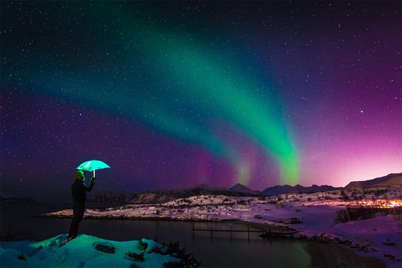 bajo el cielo noruego