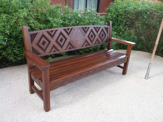Beautiful and sturdy outdoors bench.  At Disney's. Animal Kingdom Resort.