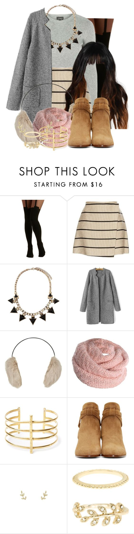 """""""Nova Castle Inspired Outfit"""" by grandmasfood ❤ liked on Polyvore featuring Pretty Polly, Topshop, MSGM, Yves Salomon, BauXo, Yves Saint Laurent and Accessorize"""