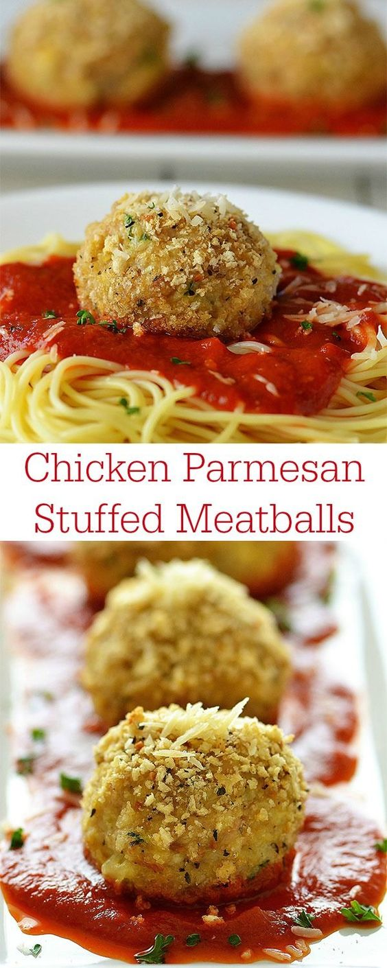 But seriously, Stuffed meatballs and Parmesan on Pinterest