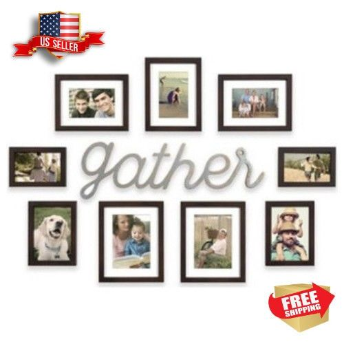 10 Piece Gather Photo Picture Frame Collage Set Black Wall Art Home Decor Home Garden Home Deco Black Wall Art Collage Picture Frames Photo Picture Frames