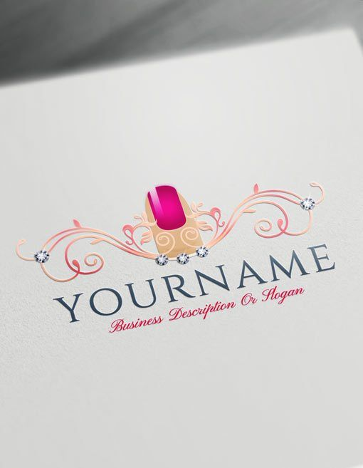 Create Your Own Nail Salon Logo Free With Nails Logo Maker Nail Logo Salon Logo Design Salon Logo