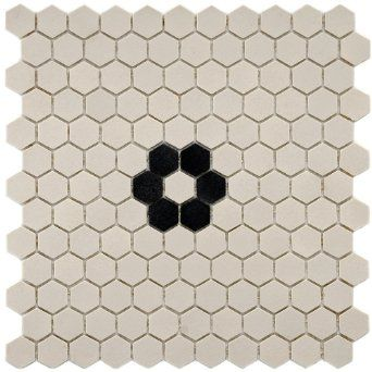 Vintage Hexagon with Flower 11 1/2 x 12 Inch Porcelain Floor & Wall Tile (10 Pcs/9.6 Sq. Ft. Per Case, $1 Standard Shipping) - Amazon.com