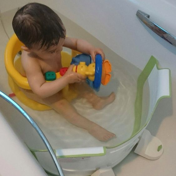 The BabyDam can still be used with a baby bath seat, allowing you to ...