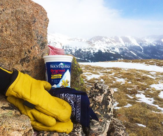 Mountain High Yoghurt. Never ski without it ;)