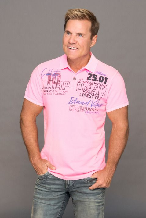 Herren Poloshirt Pikee Label Applikationen Farbe Neon Pink 04061519080613 Poloshirt Shirts Herrin