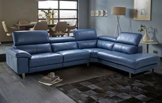 Leather Corner Sofas Salone Option C Left Arm Facing Single Electric Recliner Corner Sofa New Ubqzwve