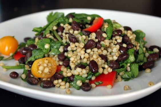 Sorghum Salad with Black Beans and Cilantro from Green Lite BItes