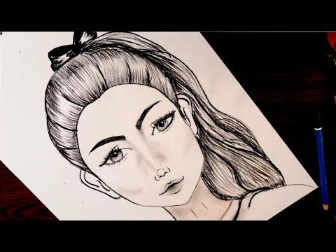 How To Draw A Girl With Ponytail Hairstyle Pencil Sketch رسم بنت بديل حصان رسم بالرصاص Youtube Art Female Sketch Female