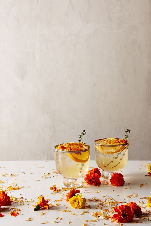 Floral Fridays: Marigold Cocktail.  NOW ON THE BLOG