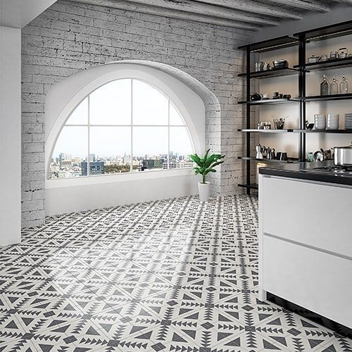 Black And White Terrazzo Tile Floor Terrazzo Terrazzo
