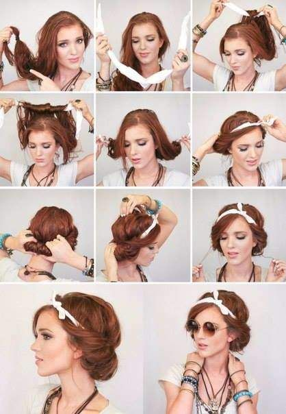 How Beautiful To Tie A Handkerchief In 2020 Hipster Hairstyles Scarf Hairstyles Long Hair Styles