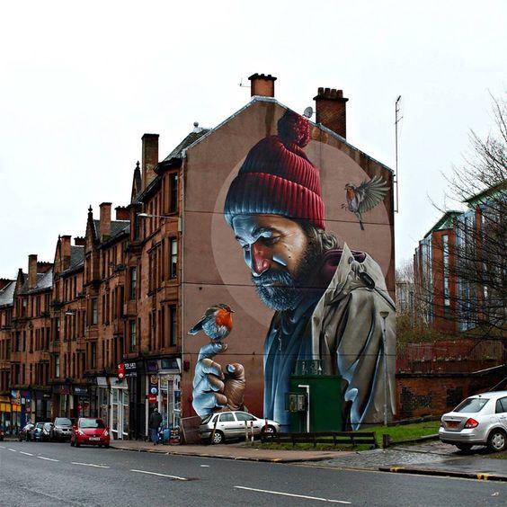 Nouvelle Peinture murale photoréaliste de Smug à Glasgow ...
