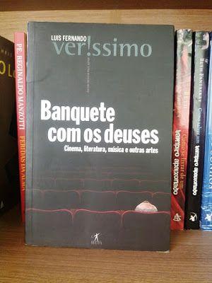 Livro à venda: Banquete com os deuses, Luis Fernando Verssímo. Com orelhas, 228 páginas, editora Objetiva.