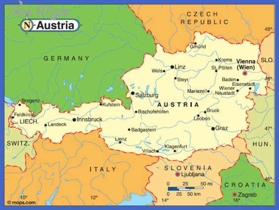 GRAZ Austria Map Httptoursmapscomgrazaustriamaphtml - Graz austria map