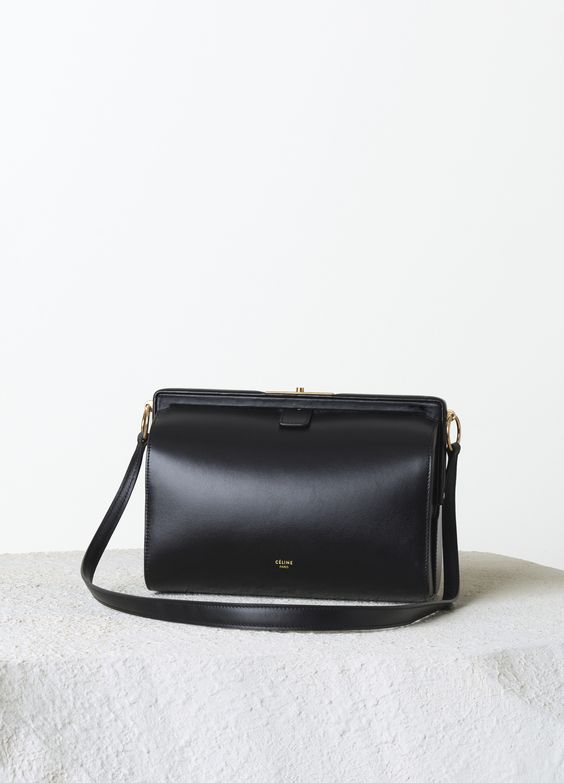who carries celine bags - SMALL MINI DOC BAG IN BLACK BOX CALFSKIN 24 X 19 X 11 CM (9 X 7 X ...