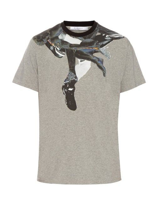 GIVENCHY Columbian-Fit Collage-Print Cotton T-Shirt. #givenchy #cloth #t-shirt