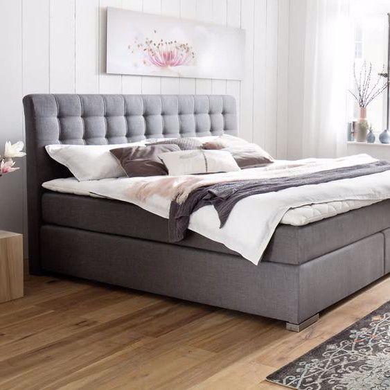 Meise Mobel Boxspringbett Lenno Ohne Matratze 140x200 Cm Ohne Beige Gesteppt In 2020 Box Spring Bed Bed Springs Remodel Bedroom