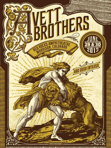 The Avett Brothers - gig poster