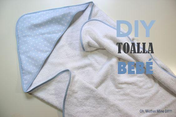 DIY CANASTILLA: Tutorial toalla de bebé con capucha
