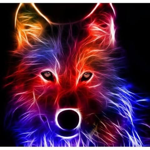 Abstract Wolf Diy Diamond Painting Wolf Wallpaper Animals Wolf Pictures Anime wolf live wallpaper