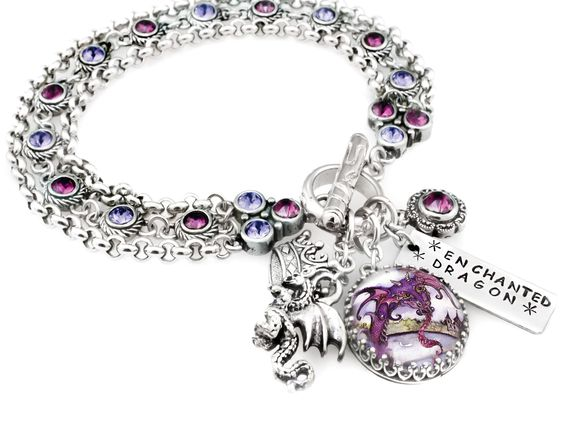 My jewelry store features handmade jewelry, charm bracelets, necklaces, earrings, this beautiful Enchanted Dragon charm bracelet and 400 more handmade charm bracelets and jewelry. Shop today for wonde