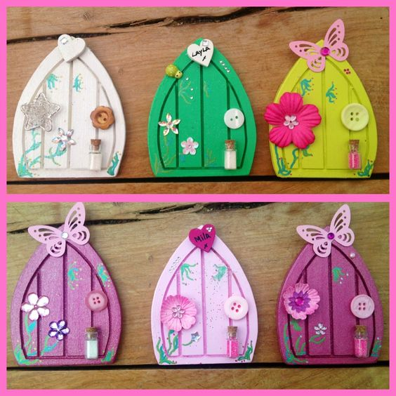Fairy doors that sit on your skirting boards to encourage for The magic fairy door