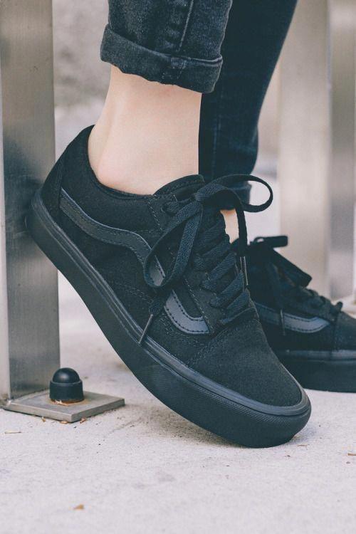 black vans, Outfit shoes