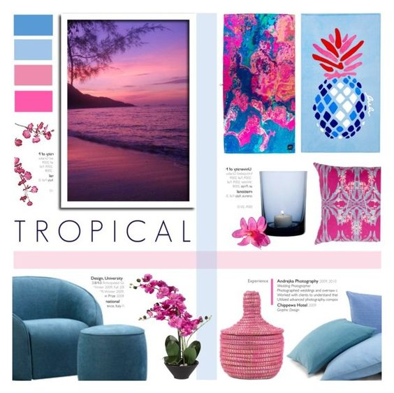 """Tropical Desires"" by c-silla ❤ liked on Polyvore featuring interior, interiors, interior design, home, home decor, interior decorating, Matouk, By Nord and Pier 1 Imports"