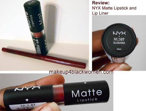 Reds For Brown Skin Nyx Matte Lipstick In Alabama And Lip